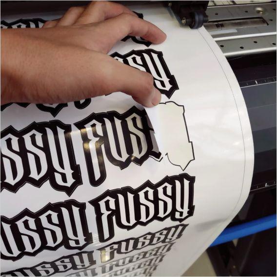 Sticker Vinyl  Meteran - Kisscut