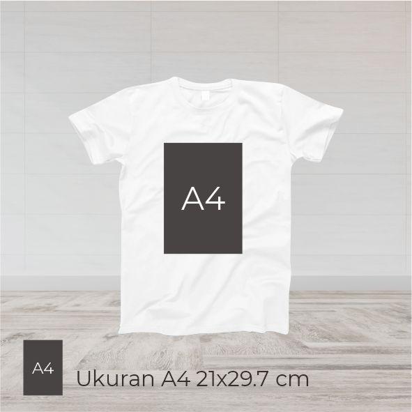 Print Kaos Putih DTG A4